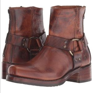 Frye Heirloom Harness Zip Boot - Cognac size 10